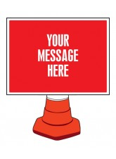 Create Your Own Reflective Cone Sign - 600 x 450mm