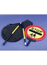 Stop Children Lollipop Sign 450mm Dia, 1500mm Pole