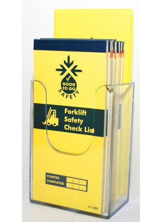 Wall Mounted Leaflet Dispenser (1/3rd A4) 109x159x65mm