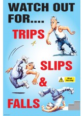 Trips Slips and Falls Poster