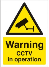 A4 Warning CCTV in Operation - Rigid Plastic - 210 x 297mm