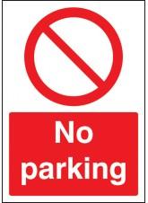A4 No Parking - Rigid Plastic - 210 x 297mm
