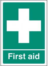 A4 First Aid - Rigid Plastic - 210 x 297mm