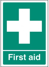 A4 First Aid - Self Adhesive Vinyl - 210 x 297mm