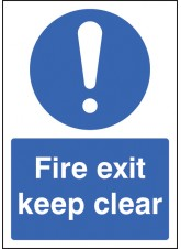 A4 Fire Exit Keep Clear - Self Adhesive Vinyl - 210 x 297mm