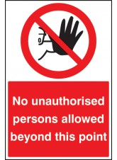 No Unauthorised Persons Beyond this Point - Floor Graphic