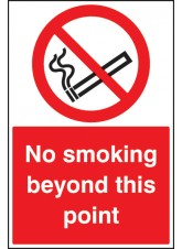 No Smoking Beyond this Point - Floor Graphic