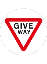 Stop Give Way - Floor Graphic
