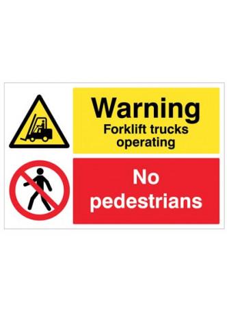Floor Graphic - Warning Forklift Trucks operating, no pedestrians