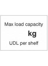 Maxload Capacity ___kg UDL Per Shelf