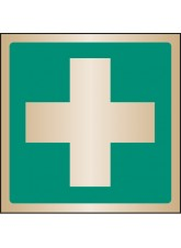 First Aid Symbol - Brass