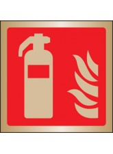 Extinguisher Symbol - Brass