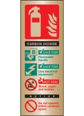 CO2 Extinguisher Identification - Brass