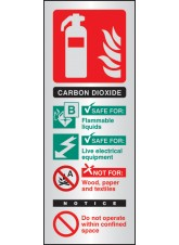 CO2 Extinguisher Identification - Aluminium