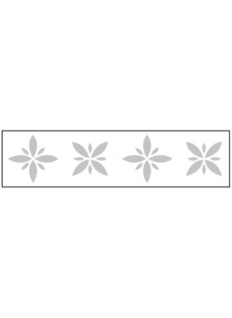 Glass Safety Highlighting Frosted Crystal Decals 150 x 1000mm Length - Flower 2