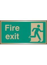 Fire Exit - Brass