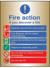 Fire Action Auto Dial with Lift - Brass