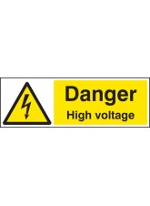 Danger High Voltage Quick Fix Sign