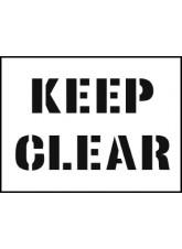 Stencil Kit - Keep Clear