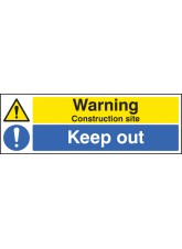 Warning Construction Site Keep Out - Quick Fix Sign