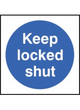 100 x Keep Locked Shut Labels - 100 x 100mm