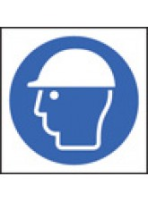 100 x Safety Helmet Labels - 50 x 50mm