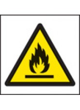 100 x Flammable Labels - 50 x 50mm