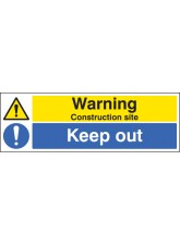 Warning Construction Site Keep Out
