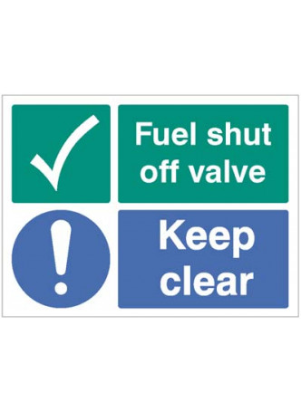Fuel shut off valve Keep clear