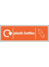 WRAP Recycling Sign - Plastic Bottles