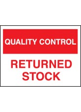 Quality Control Returned Stock