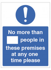 Social Distancing Max Number of People Permitted