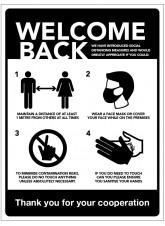 Welcome Back - Social Distancing Measures