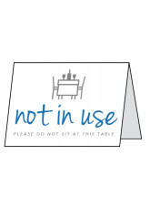 Not in Use - Please do not use this Table - Double Sided Table Card
